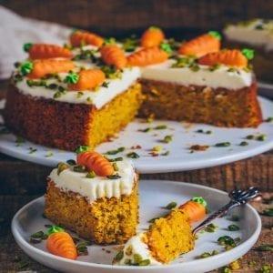 Karottenkuchen - Rüblikuchen - Möhrenkuchen