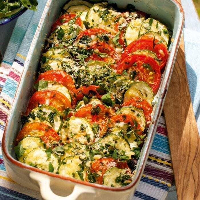 Zucchini Tomaten Gratin