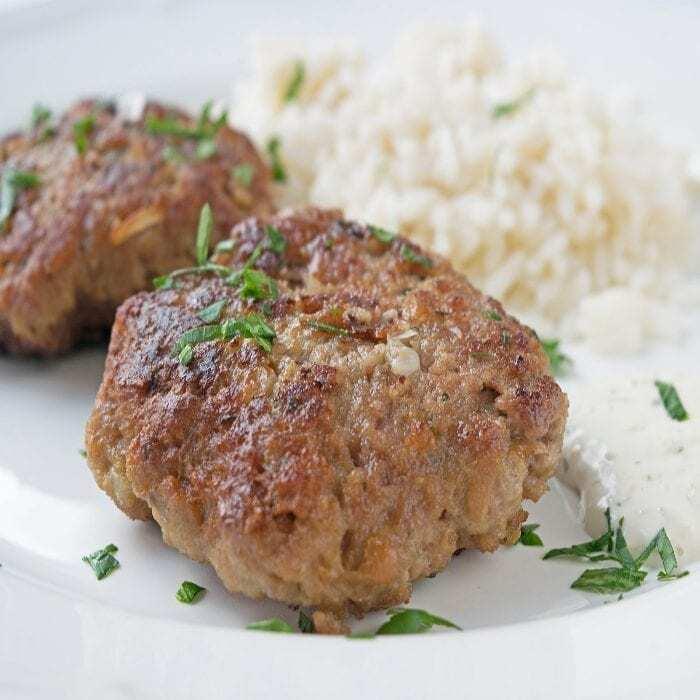 Beefsteaks mit Schafskäse