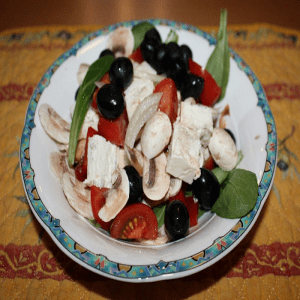 Kreta Feldsalat mit Schafskäse