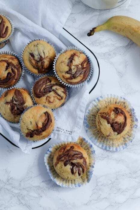 Bananen Nutella Muffins