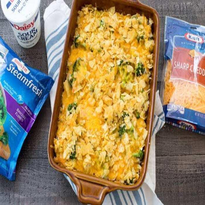 Brokkoli & Huhn mit Kartoffelchips