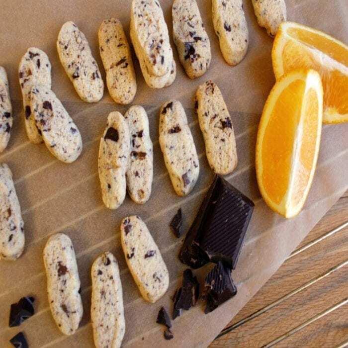 Orangen Schokoladen Plätzchen