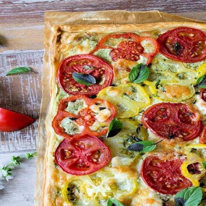 Leichte Tomatentarte mit Camembert