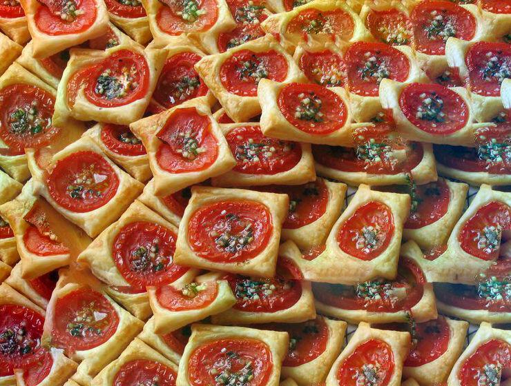 Blätterteig Tomaten Quadrate