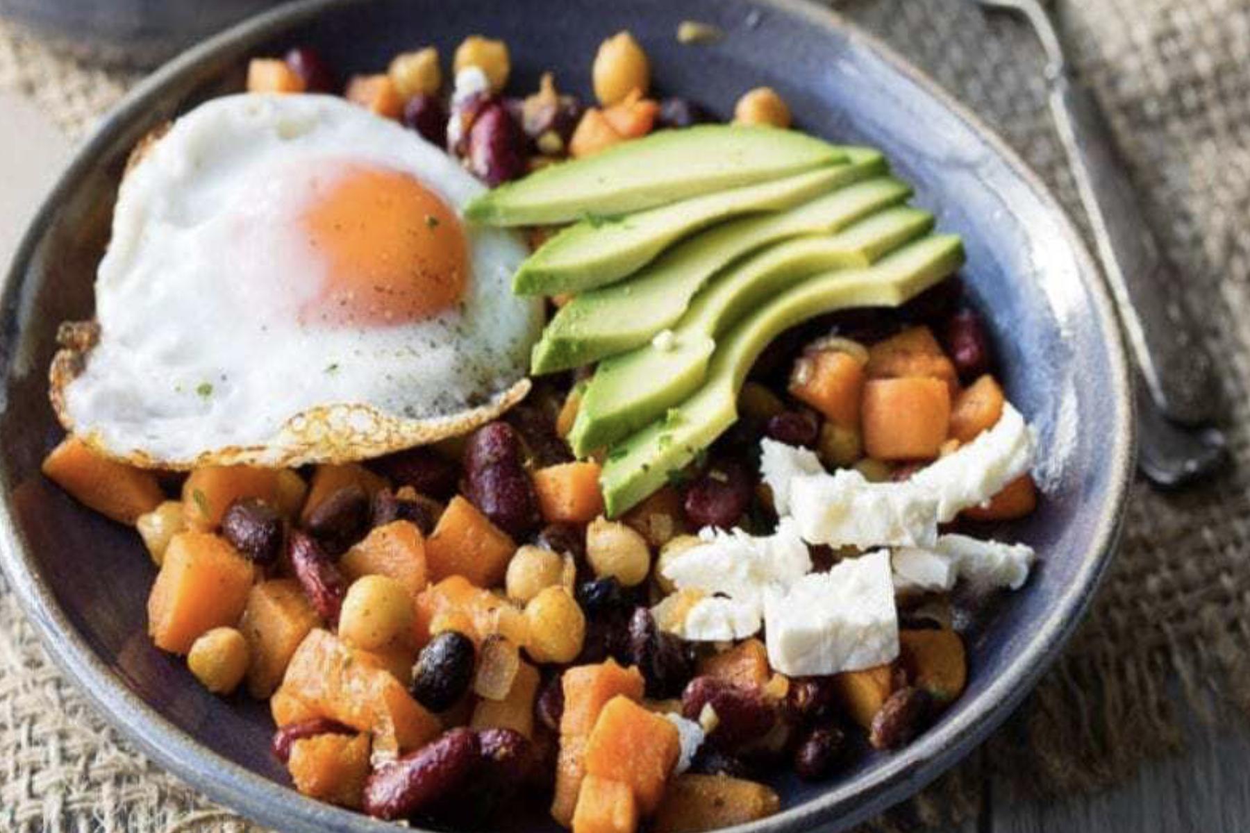 Gesundes Frühstück Poke Bowl
