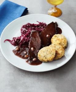 Rotkohl-und-Schweinefleisch
