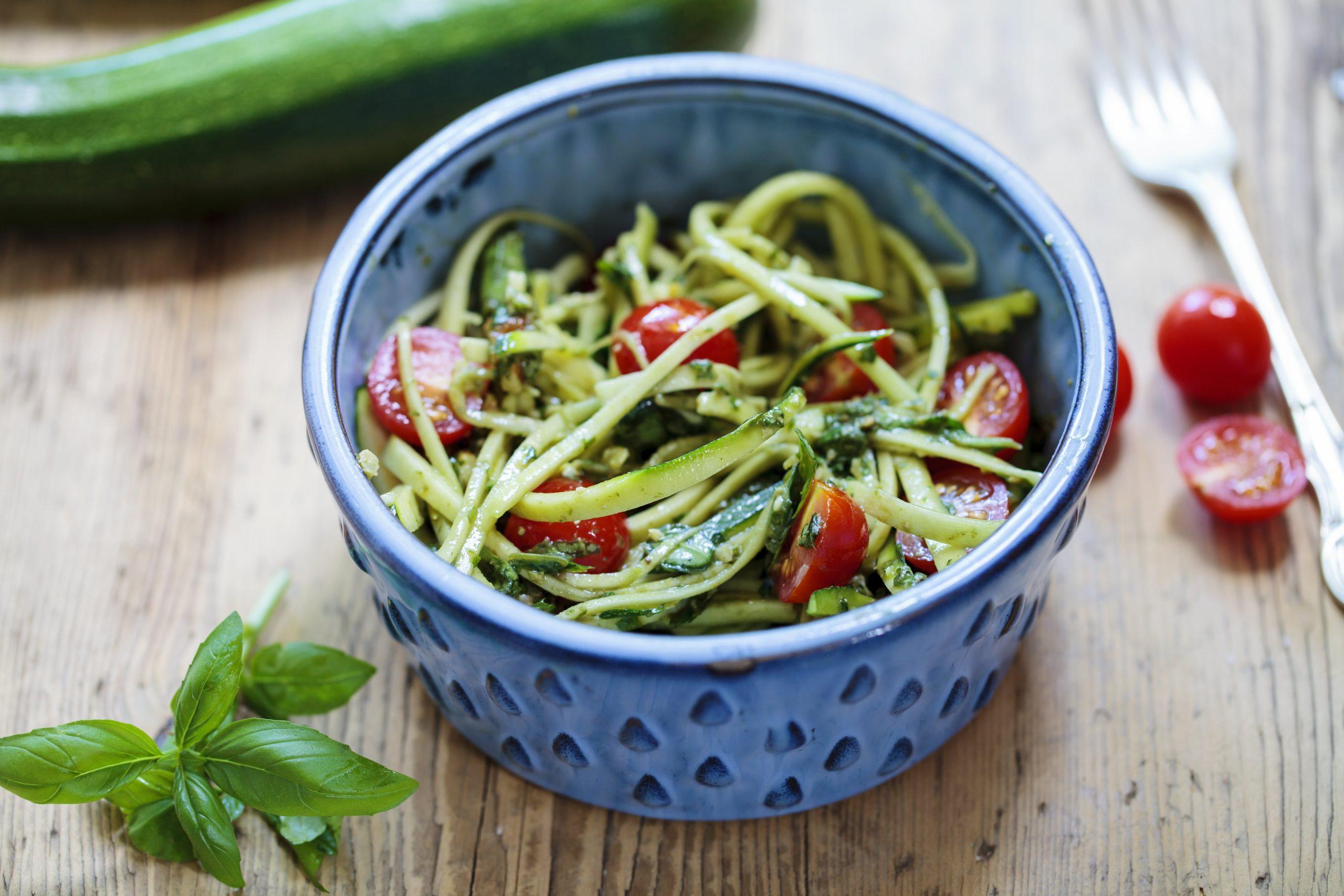 Low Carb Rezepte-Zucchini Spagetti