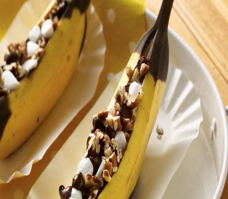 Gegrillte-Bananen