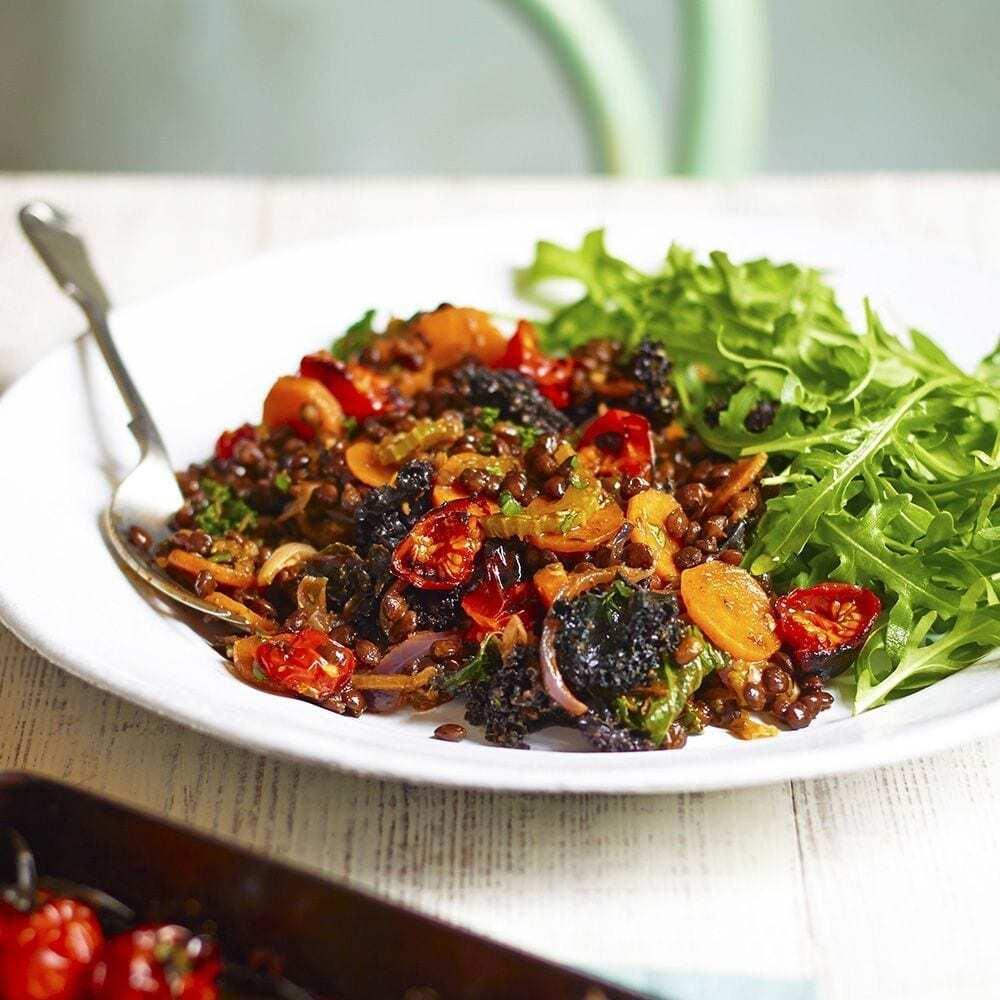 Geschmorte Puy-Linsen von Sirtfood Diet