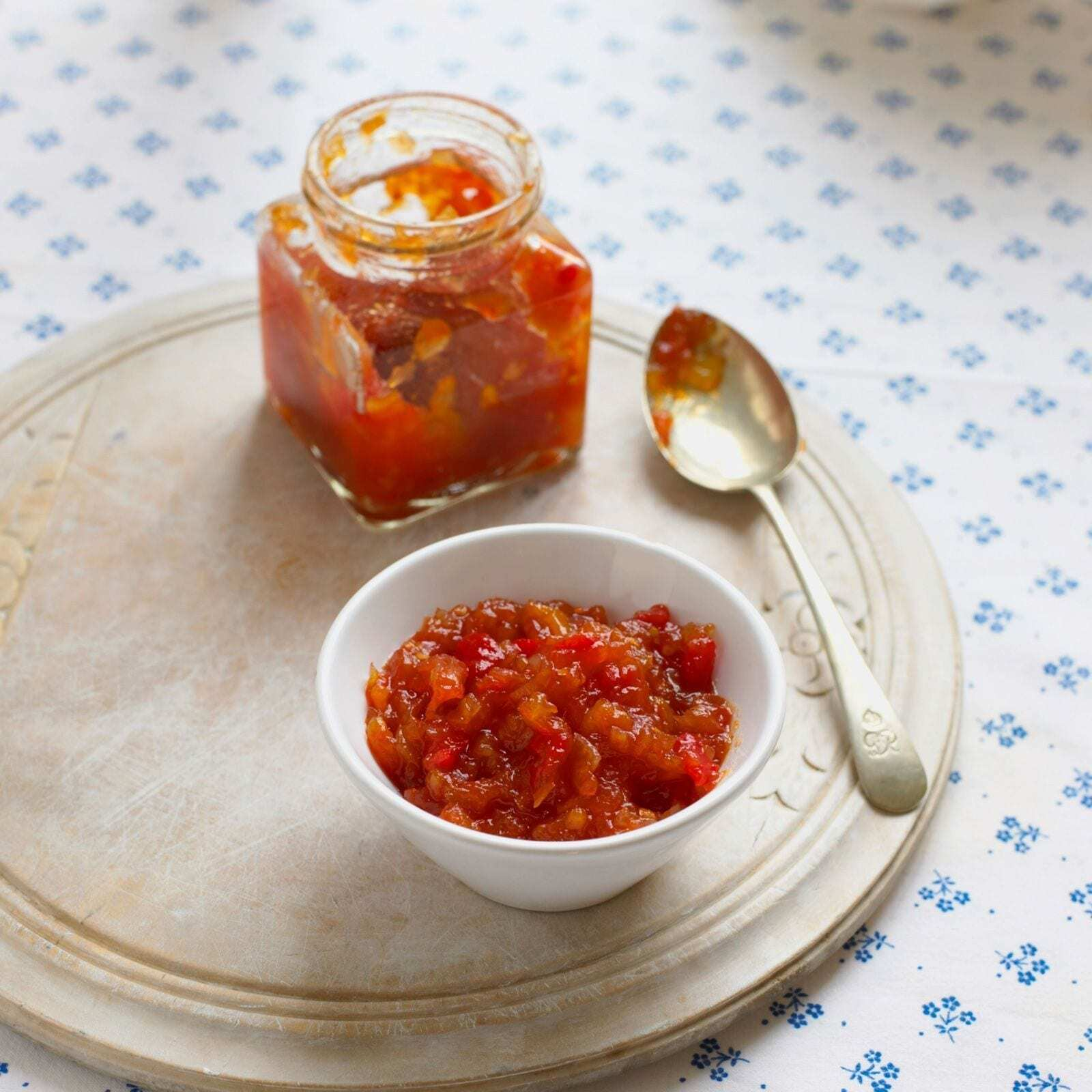 Kürbis Tomaten Chutney von Rosinenkind