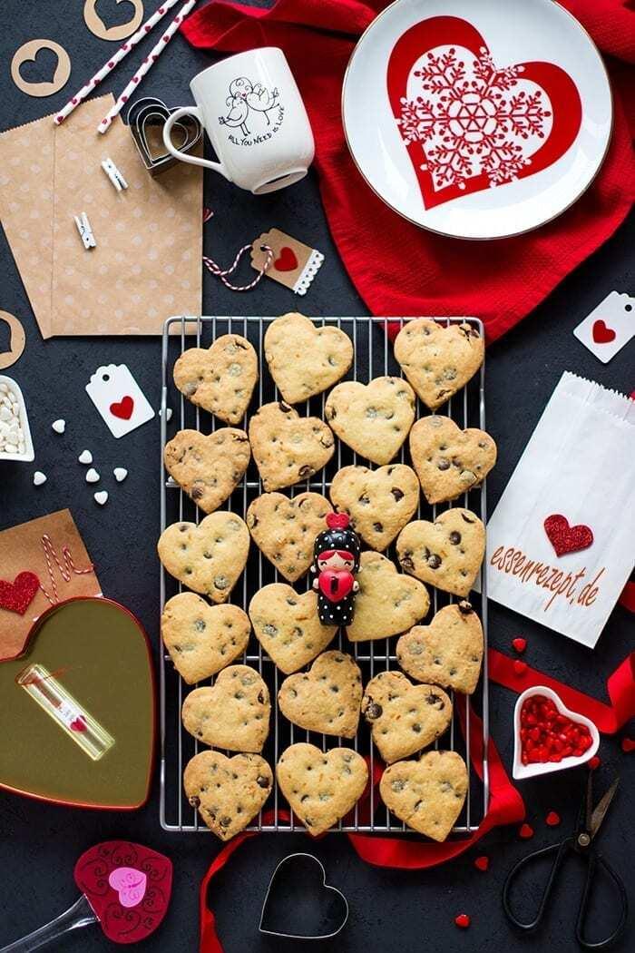 Plätzchen zum Valentinstag