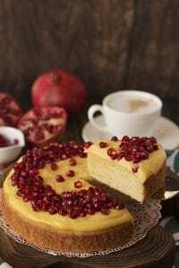 Vanille-Granatapfel-Kuchen