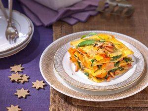 Vegetarische-Kürbis-Mangold-Lasagne