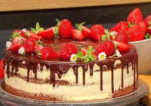 Erdbeertorte-mit-Schokoladen