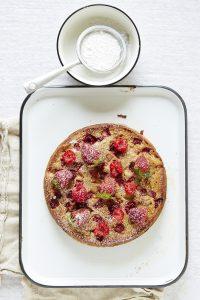 Erdbeer Rhabarber Joghurt Kuchen