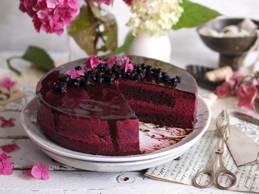 Kuchen mit Schwarzen Johannisbeeren