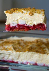 Rhabarber Pudding Kuchen