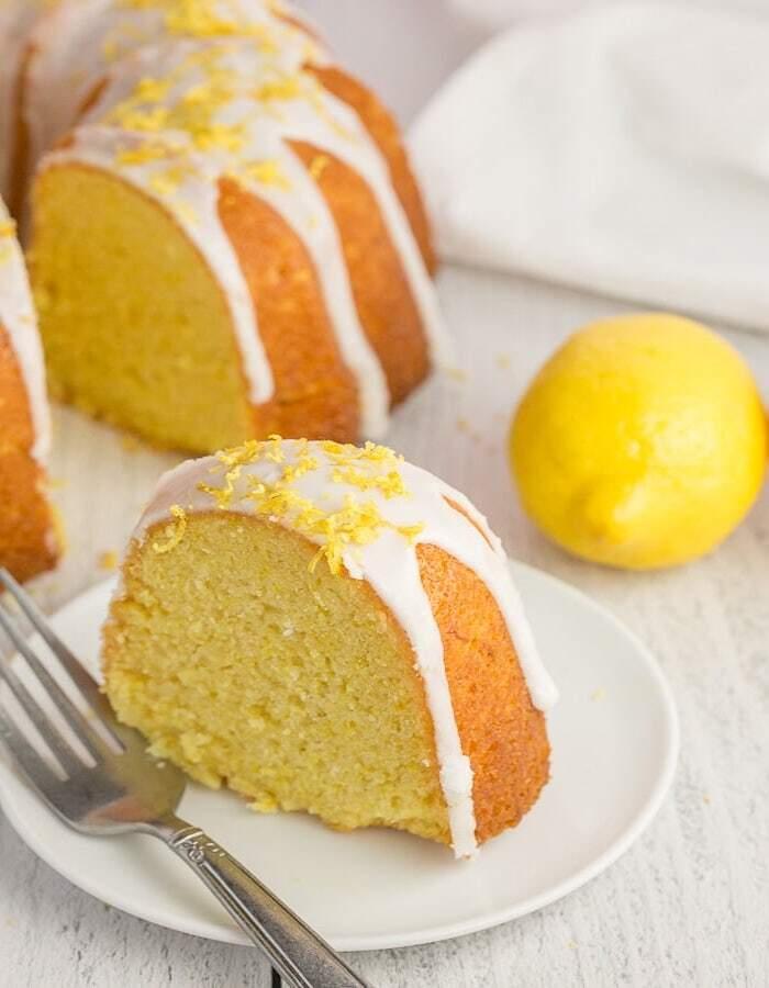 Zitronenkuchen ohne Ei