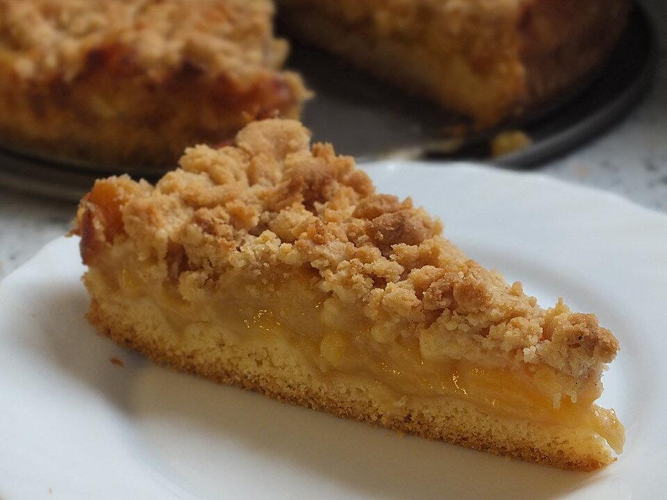 Apfelmus–Vanillepudding–Kuchen