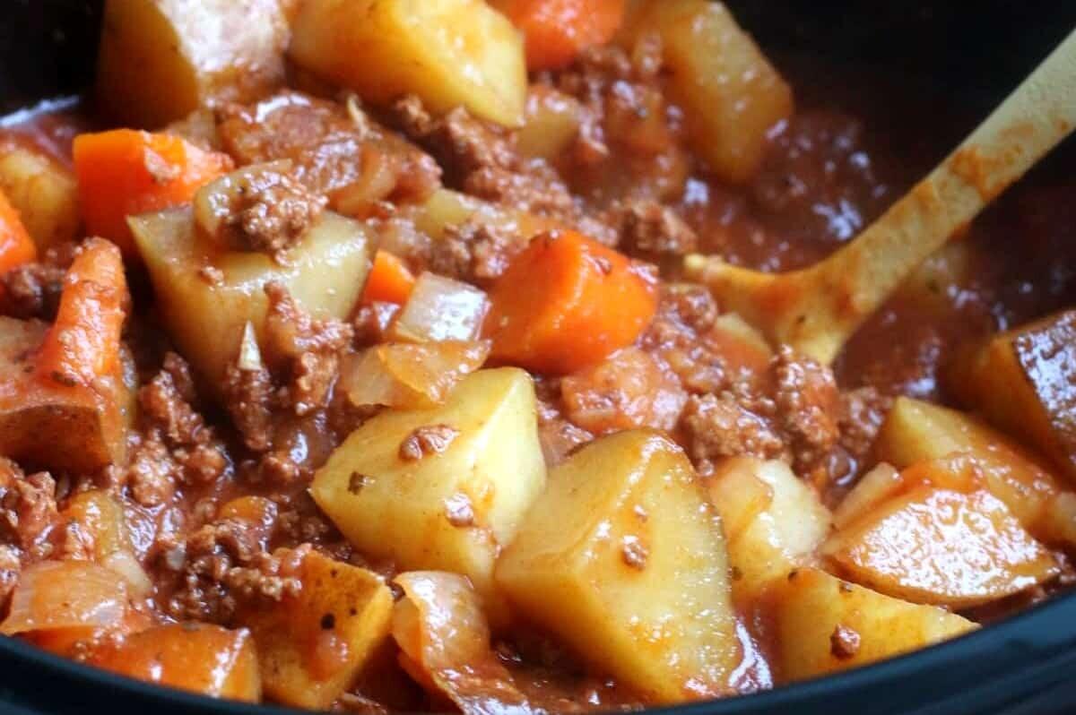 Kürbiseintopf mit Kartoffeln