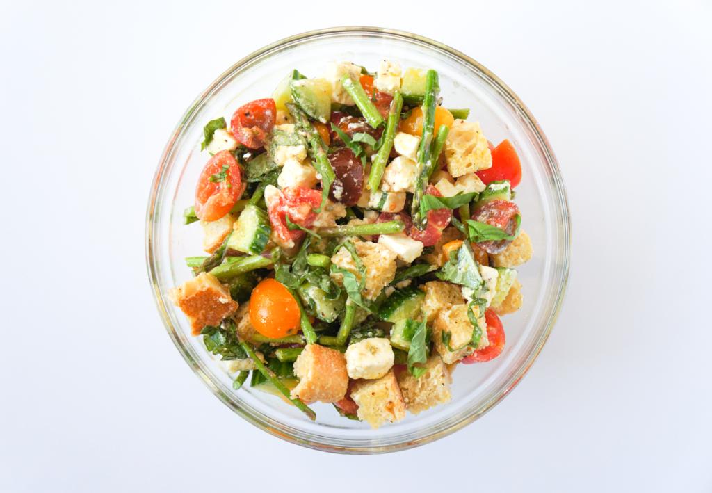 Spargel Brot Salat