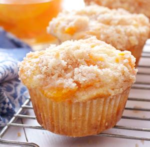 Goldige Pfirsich Muffins