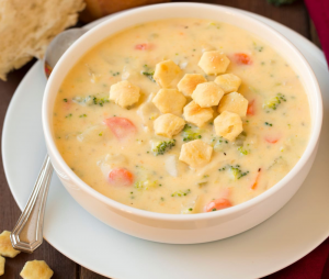 Kartoffel - Gemüse - Käse Suppe