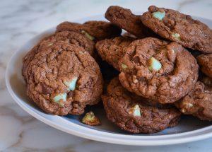 Schokolade Minze Kekse
