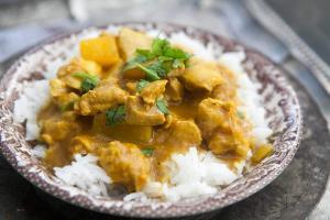 Bananen Hühner Curry