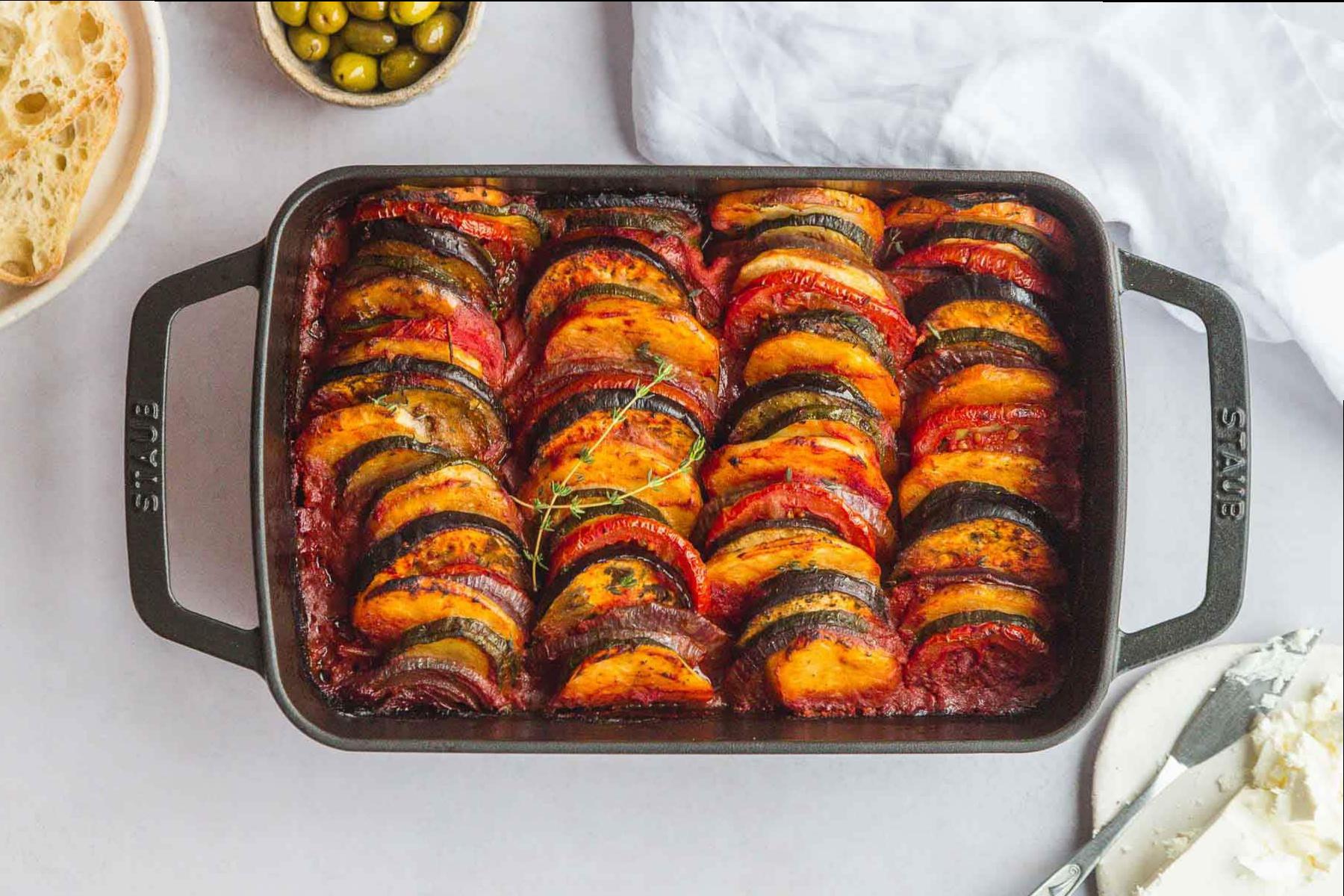 Griechischer Kartoffel - Gemüse - Topf