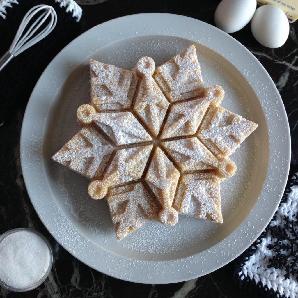 Schneeflocken Kuchen