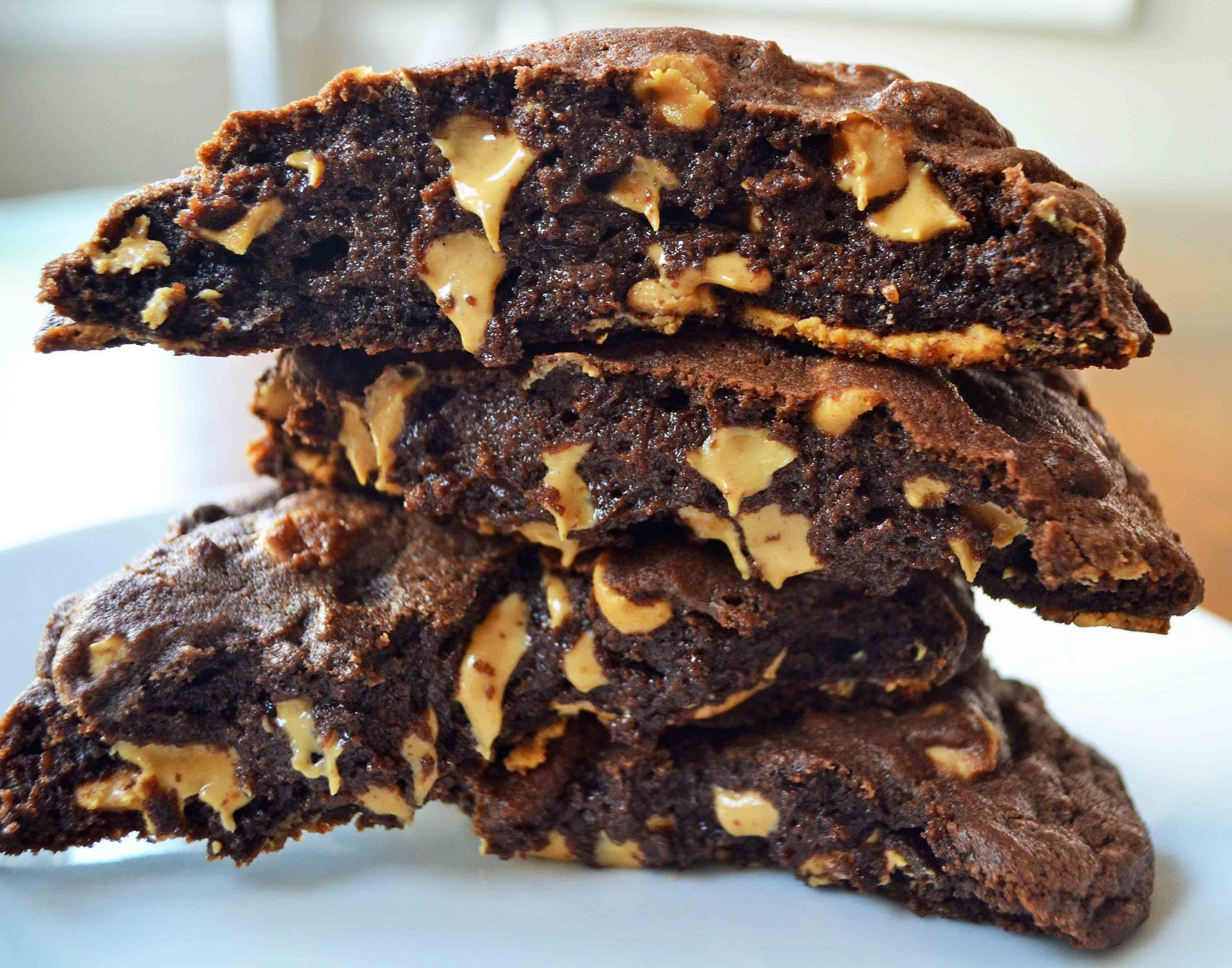 Schoko Cookies mit Erdnussbutter