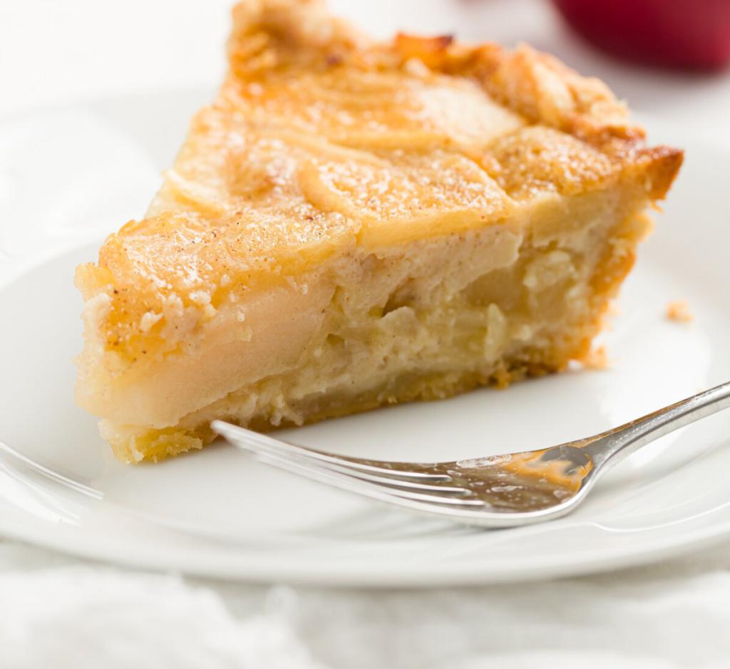 Apfelkuchen mit Vanillepudding