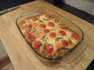 Brokkoli Tomaten Feta Auflauf Salat