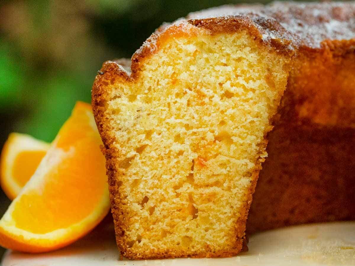 Dessert mit Frischen Orangen