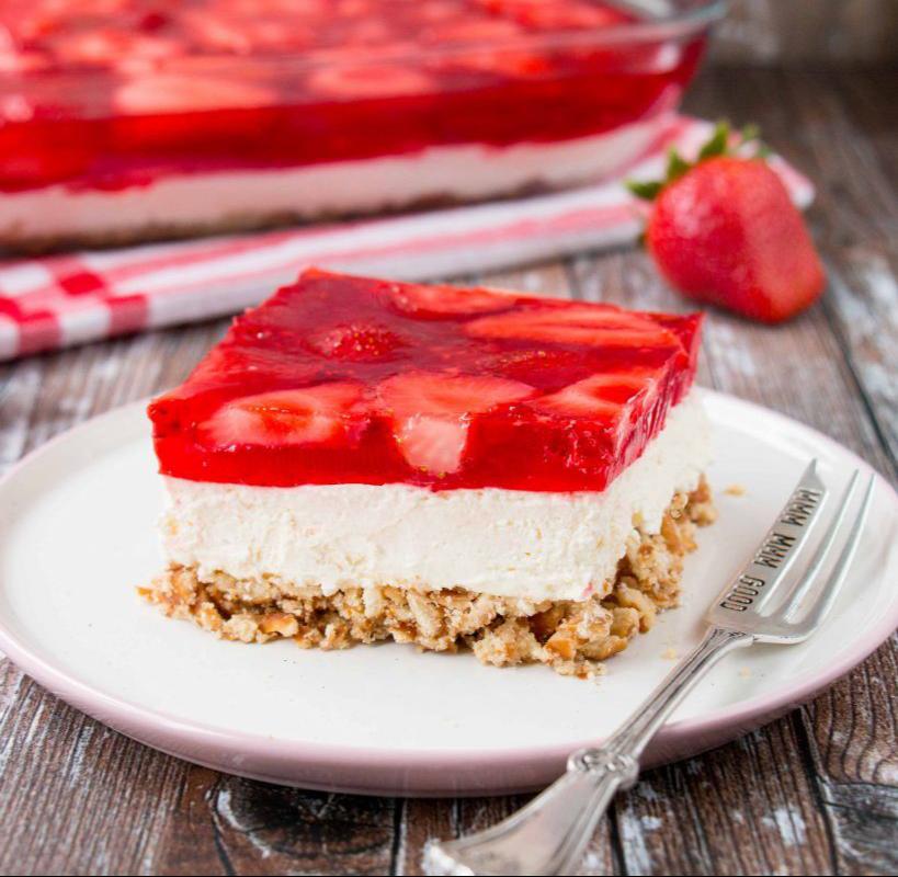 Erdbeer Salzbrezel Dessert