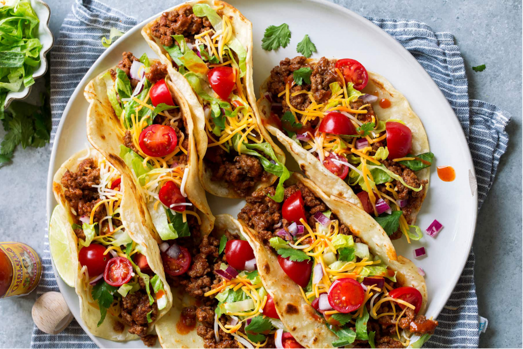 Hackfleisch Tacos