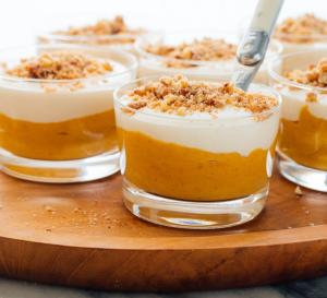 Herbst Dessert İm Glas