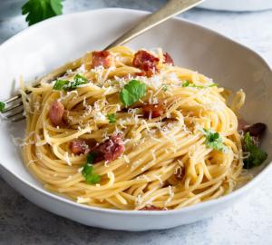 Leichte Spaghetti Carbonara