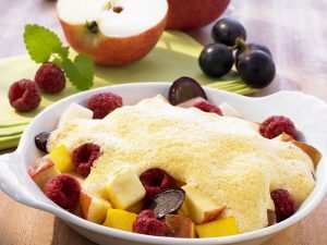 Quarkauflauf mit Früchten