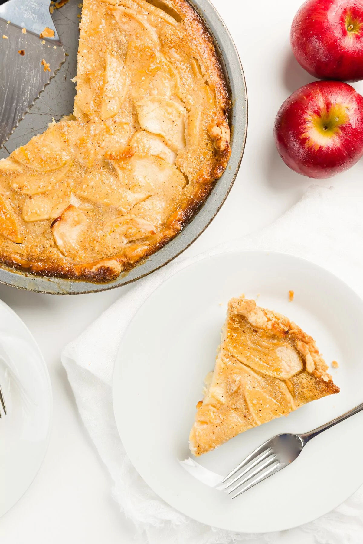 Apfelkuchen mit Pudding