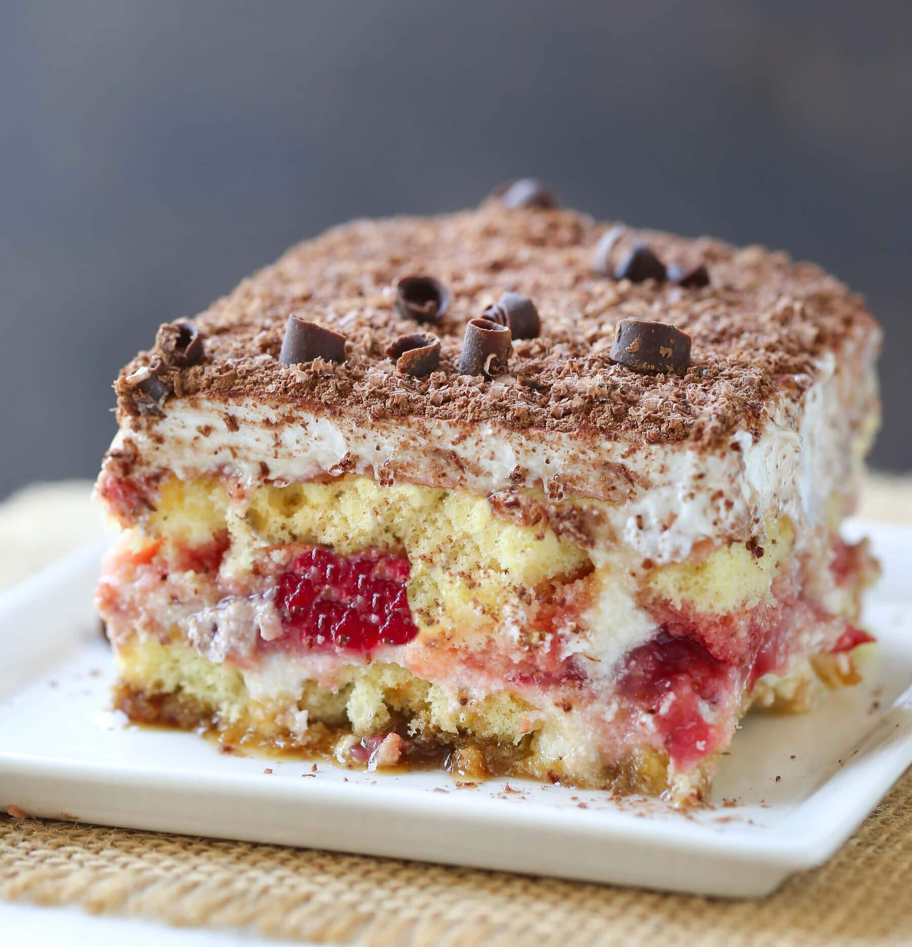 Erdbeer Butterkeks Dessert